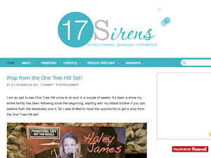 Seventeen Sirens - Product Reviews, Giveaways, Motherhood.