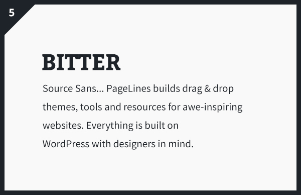 Bitter & Source Sans Google Fonts