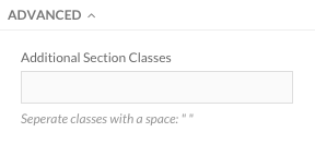 Additional Section Classes