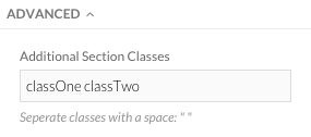 Multiple Class Names