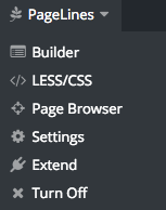Custom LESS/CSS menu