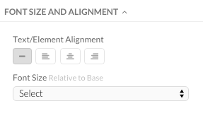 Font Alignment and Sizing