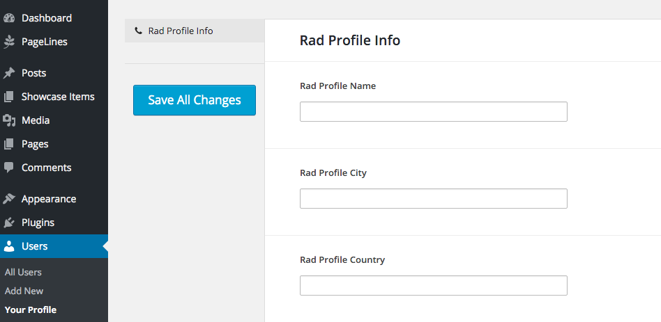 Rad Profiles User options